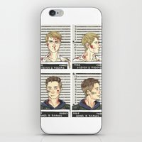 stucky iPhone & iPod Skins featuring stucky mugshots by maria euphemia