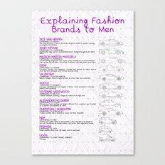 Explaining Fashion To Men Canvas Print