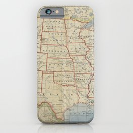 Old and Vintage Map of every States of The United States Of America iPhone Case