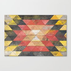 Reclaimed Triangle Pattern Canvas Print