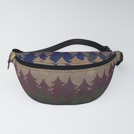 The secret forest at late afternoon - Dark tree pattern Fanny Pack
