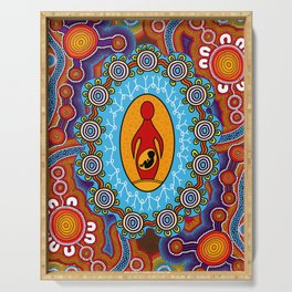 Authentic Aboriginal Art -  Serving Tray