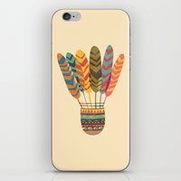 rustic iPhone & iPod Skins featuring Rustic shuttlecock by Picomodi