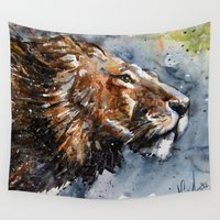 leon Wall Tapestries featuring Leon by KOSTART