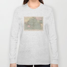 Vintage Pacific Ocean Navigational Map (1905) Long Sleeve T-shirt
