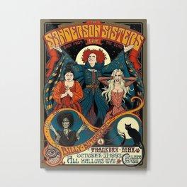 Sanderson Sisters Vintage Tour Poster Metal Print