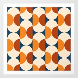 60s Beans Pattern Art Print