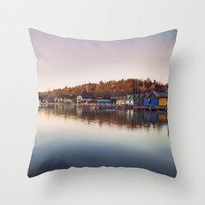 Dawn at the lake Throw Pillow
