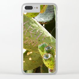 Signed Cactus Clear iPhone Case