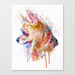 Watercolor Chihuahua Canvas Print