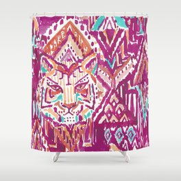 TIGER PROWESS - FUCHSIA Shower Curtain