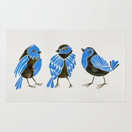 Blue Finches Rug