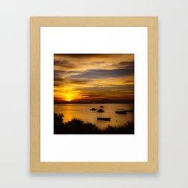 Sunset in Rio de Janeiro Framed Art Print