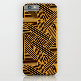 Sketchy Abstract (Orange & Black Pattern) iPhone Case