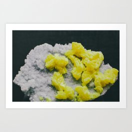 Sulfur on Celestine Art Print