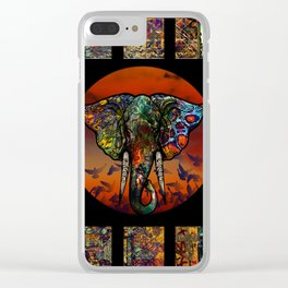 Elephant 1 Clear iPhone Case