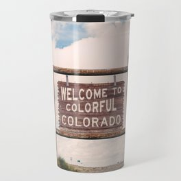 Welcome to Colorful Colorado Travel Mug