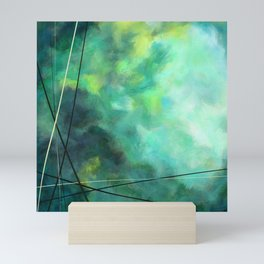 Crossed Green - Abstract Art Mini Art Print