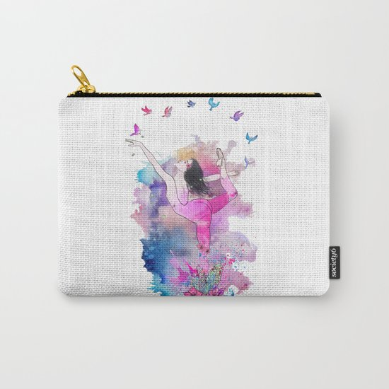 Ballerina with birds Carry-All Pouch