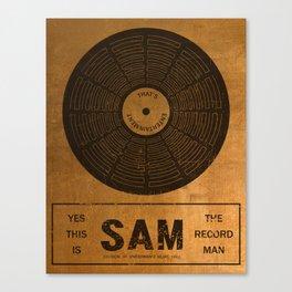 Sam the Record Man Vintage Canvas Print