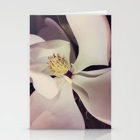 magnolia Stationery Cards featuring Magnolia by Deepti Munshaw