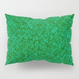 Scratched Green Pillow Sham