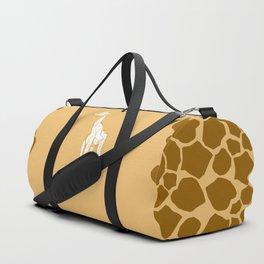 geometric giraffe Duffle Bag