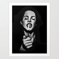 ultraviolence Art Prints featuring Ultraviolence by Marissa Asal