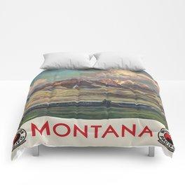 Vintage poster - Montana Comforters