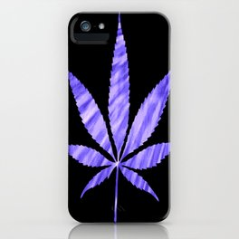 Weed : High Times Purple Blue iPhone Case