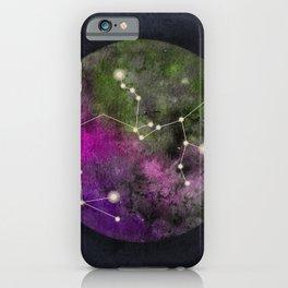 Watercolor Zodiac Sagitarius Galaxy iPhone Case