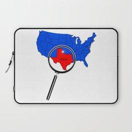 Texas Map Laptop Sleeve