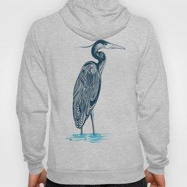 Bewitching blue heron Hoody