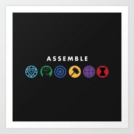 Assemble Art Print