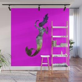 Galaxy Mermaid 2 (Pink) Wall Mural
