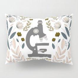 Gray Folk Microscope Pillow Sham