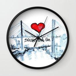I love Savannah Ga Wall Clock
