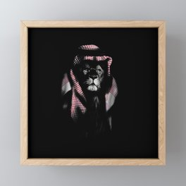 Lion Sheik Framed Mini Art Print