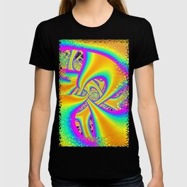 Funkidelic Dichroic Fused Glass Fractal T-shirt