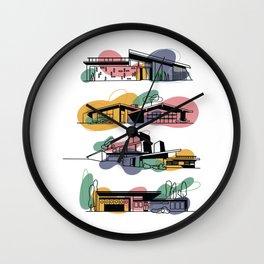 Honey, I'm Home! (Honey Gold) | @makemeunison Digital Art Wall Clock