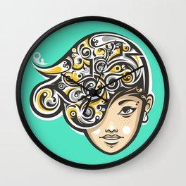 Swirly thoughts Wall Clock