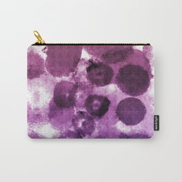 Purple Watercolor Spots Carry-All Pouch