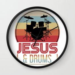Christian Music Drummer Wall Clock