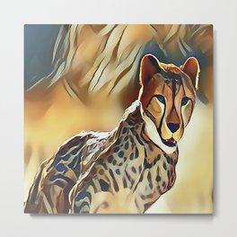 The Cheetah Metal Print
