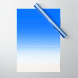 Sky Blue White Ombre Wrapping Paper