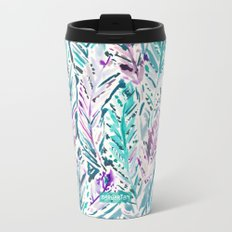 FREE FEELINGS Boho Feathers Metal Travel Mug