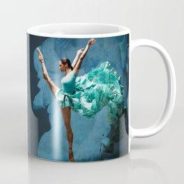 -O1- Blue Ballet Dancer Deep Feelings. Coffee Mug