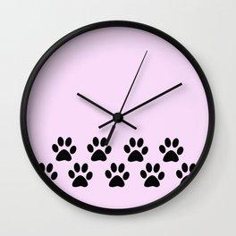 Muddy Paws Wall Clock