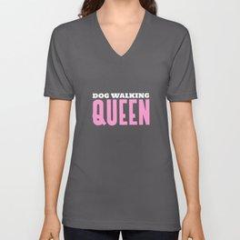 Dog Walking Queen Unisex V-Neck