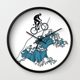 Riding The Open Seas Wall Clock